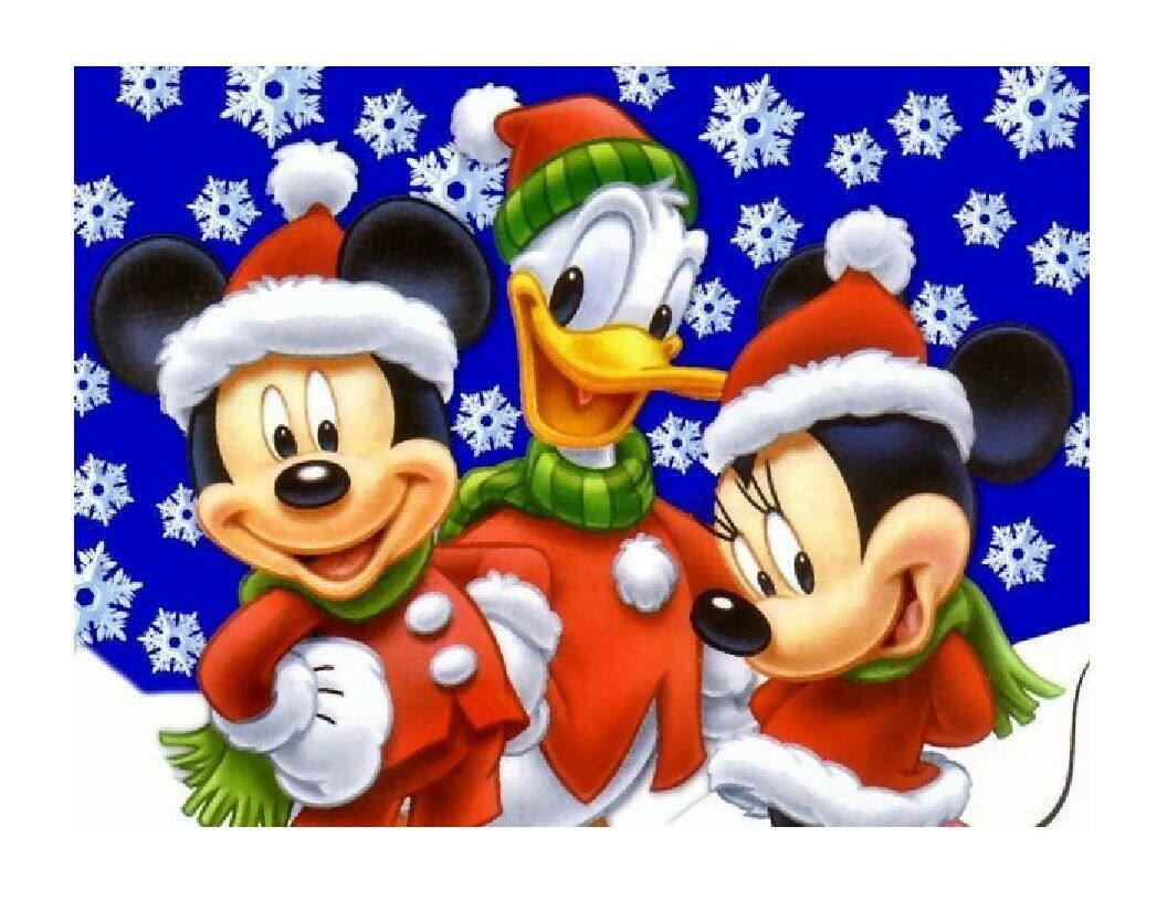 Mickey Mouse Christmas Edible Cake Image Cake Topper - Cakes For Cures