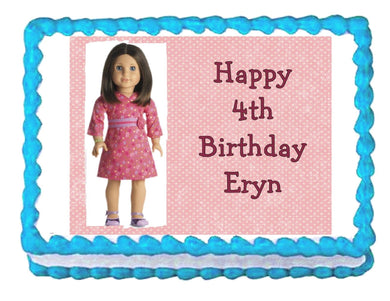 American Girl Edible Cake Image Cake Topper - Cakes For Cures