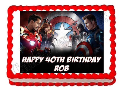 Avengers Captain America Civil War Edible Cake Image Cake Topper - Cakes For Cures