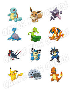 Pokemon Edible Cupcake Images - Cupcake Toppers - Cakes For Cures