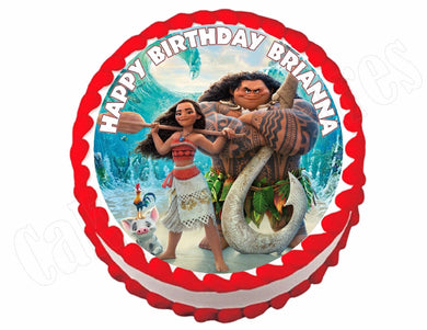 Princess Moana Round Edible Cake Image Cake Topper - Cakes For Cures