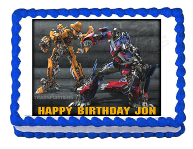 TRANSFORMERS BUMBLEBEE OPTIMUS PRIME edible cake image cake topper decoration - Cakes For Cures