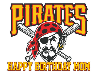 Baseball Pittsburgh Pirates Edible Cake Image Cake Topper - Cakes For Cures