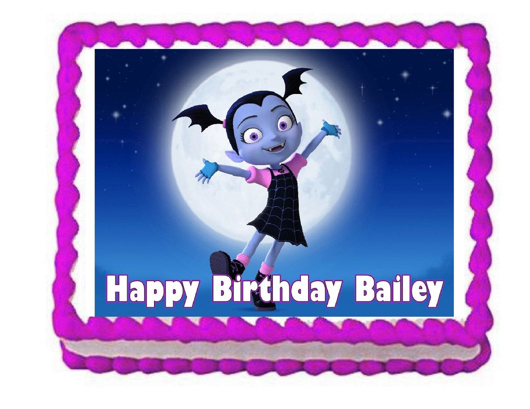 Vampirina edible cake image cake topper frosting sheet decoration-personalized - Cakes For Cures