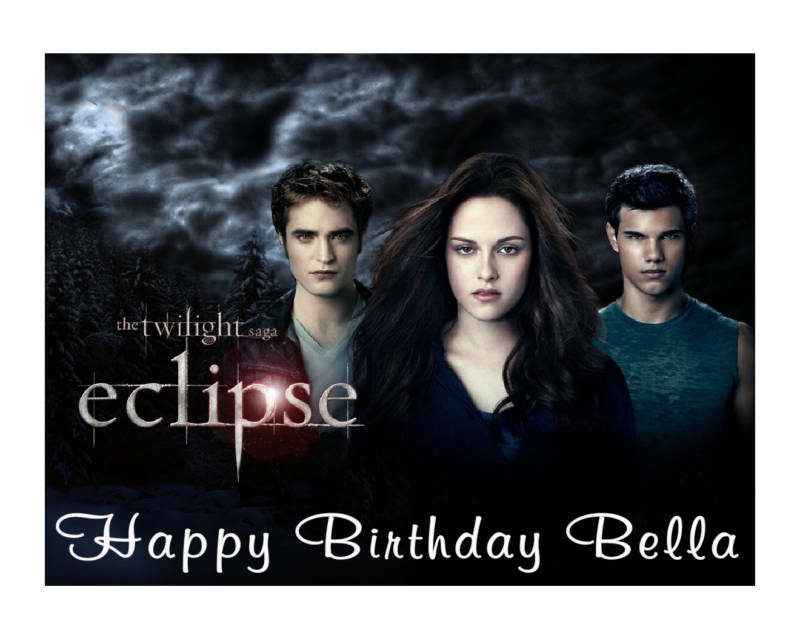 Twilight Eclipse party decoration edible cake image frosting sheet - Cakes For Cures