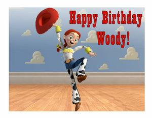 Toy Story Jessie Edible Cake Image Frosting Sheet Party Decoration