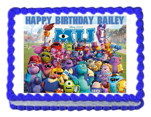Monsters Inc. Monsters University Edible Cake Image Cake Topper - Cakes For Cures