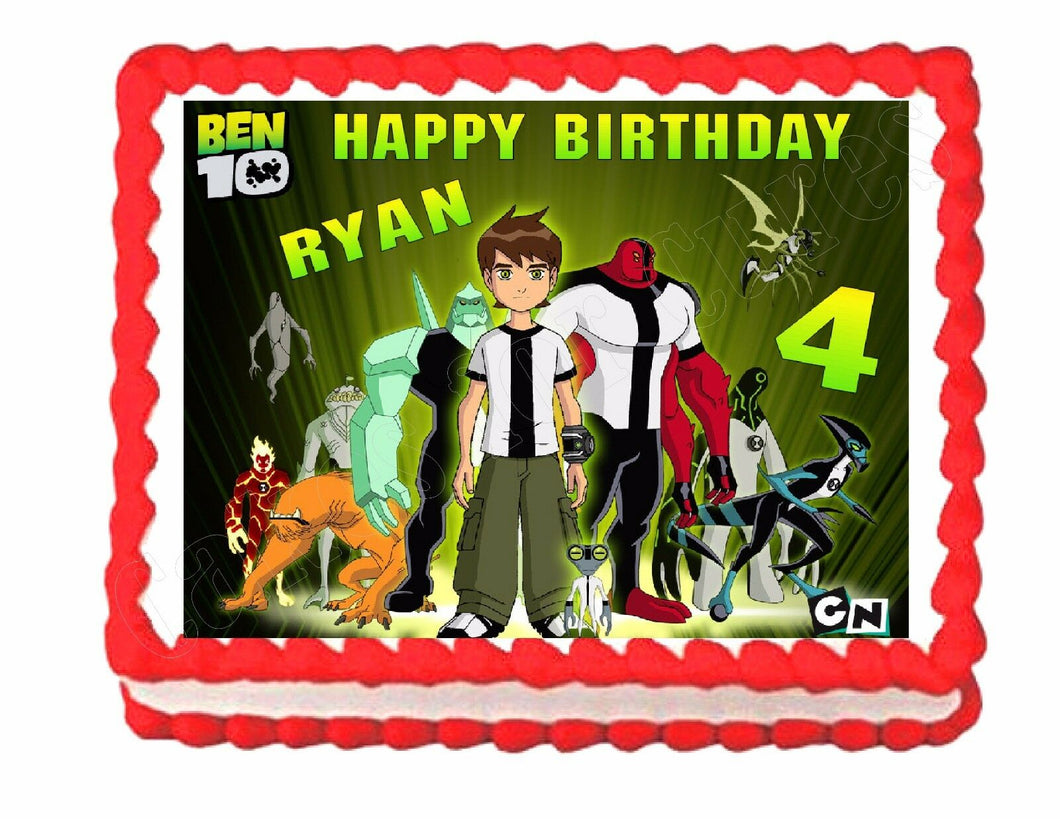 Ben 10 Edible Cake Image Cake Topper - Cakes For Cures