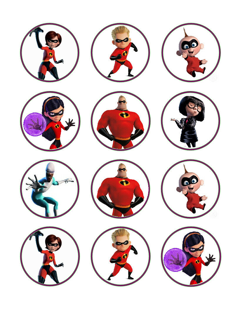 Incredibles Edible Cupcake Images Cupcake Toppers - Cakes For Cures