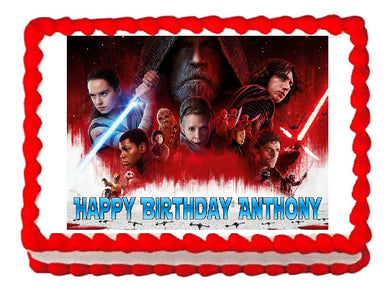 Star Wars The Last Jedi Edible Cake Image Cake Topper - Cakes For Cures