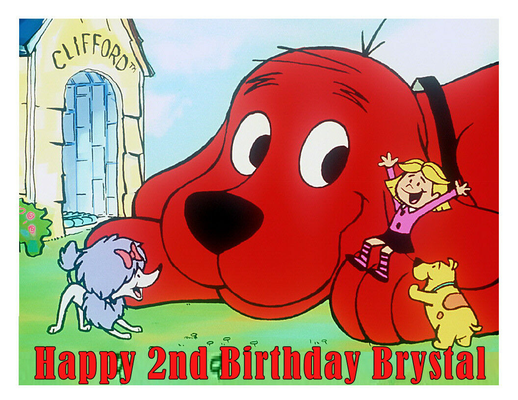 Clifford the big red dog edible cake image cake topper party decoration - Cakes For Cures