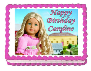American Girl Caroline Edible Cake Image Cake Topper - Cakes For Cures