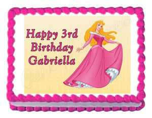 Sleeping Beauty Princess Edible Cake Image Cake Topper - Cakes For Cures