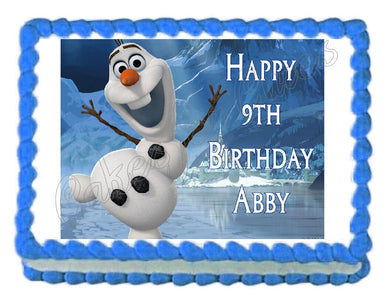 Frozen Olaf Edible Cake Image Cake Topper - Cakes For Cures