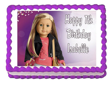 American Girl Isabelle 2014 Edible Cake Image Cake Topper - Cakes For Cures