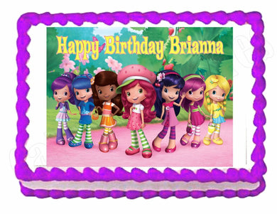 Fabulous 1 Strawberry Shortcake Cake Toppers Cakes For Cures Funny Birthday Cards Online Elaedamsfinfo