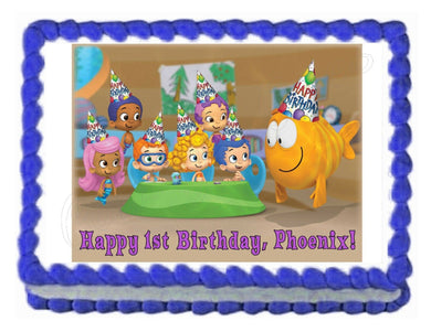 BUBBLE GUPPIES edible cake image party decoration topper frosting sheet - Cakes For Cures
