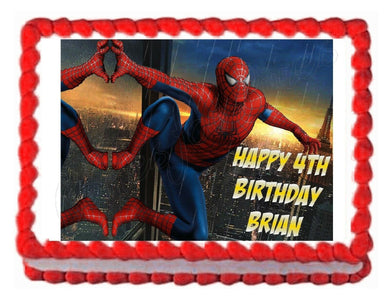 Spiderman Avengers Edible Cake Image Cake Topper - Cakes For Cures