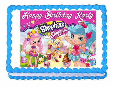 Shopkins Edible Cake Image Cake Topper - Cakes For Cures