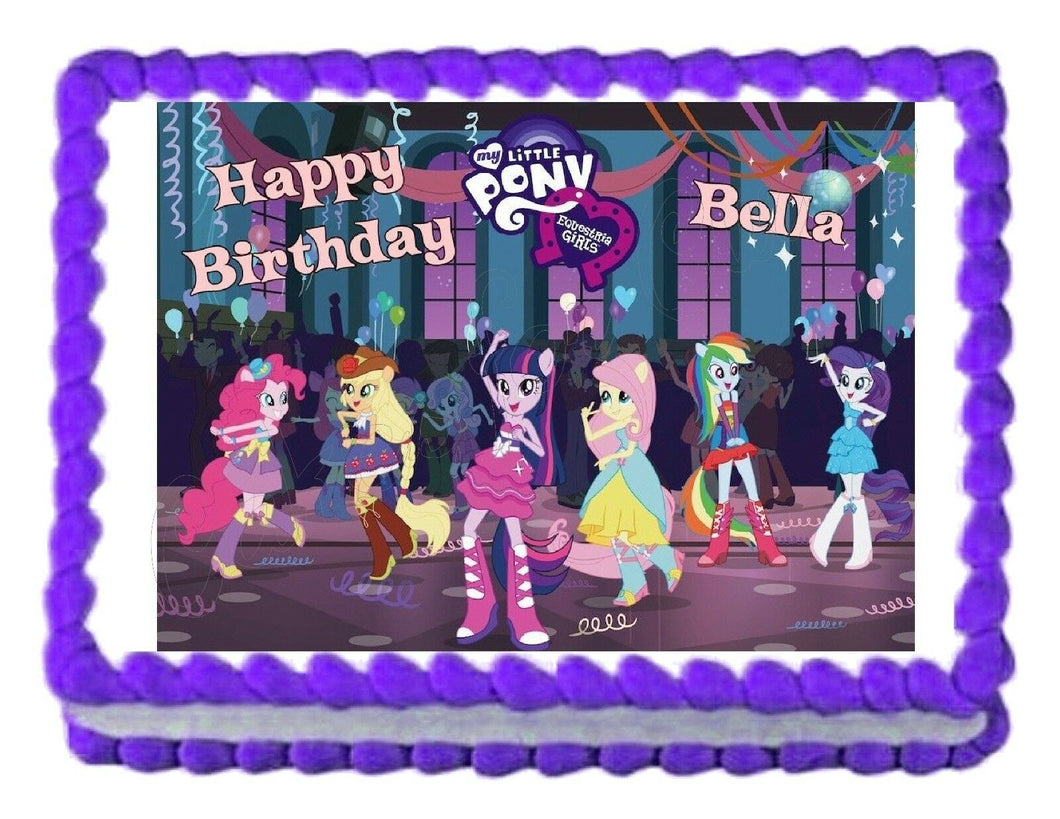 My Little Pony Equestria Girls Edible Cake Image Cake Topper - Cakes For Cures