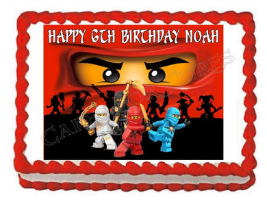 Ninja Edible Cake Image Cake Topper - Cakes For Cures