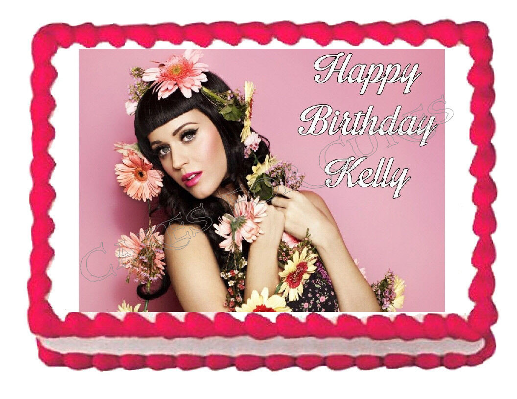 Katy Perry Edible Cake Image Cake Topper - Cakes For Cures