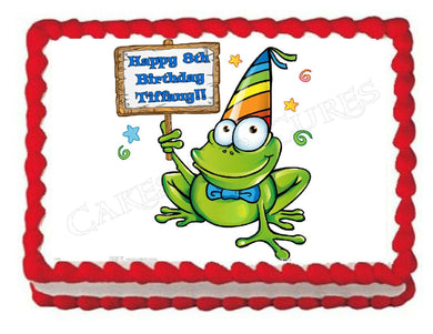 Frog Froggy Edible Cake Image Cake Topper - Cakes For Cures