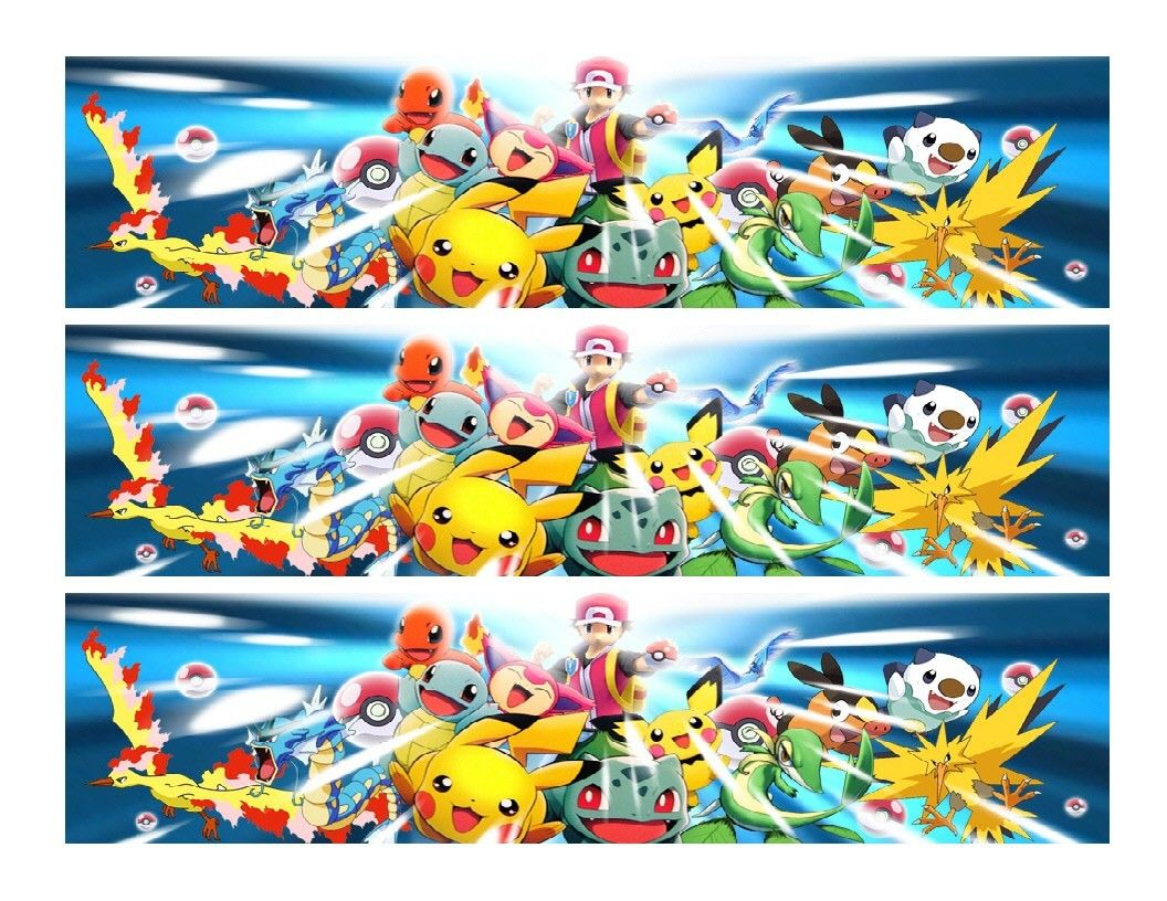 Pokemon Edible Cake Strips - Cake Wraps - Cakes For Cures