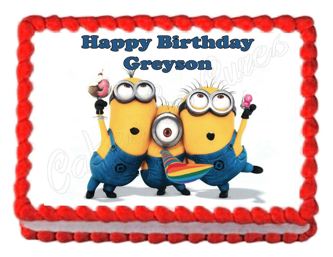 Despicable Me Minions Edible Cake Image Cake Topper - Cakes For Cures