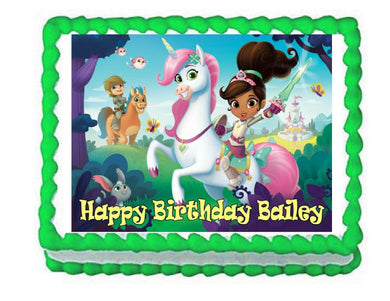 Nella the Princess Knight Edible Cake Image Cake Topper - Cakes For Cures
