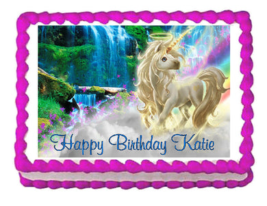 Unicorn party decoration edible cake topper frosting sheet - Cakes For Cures