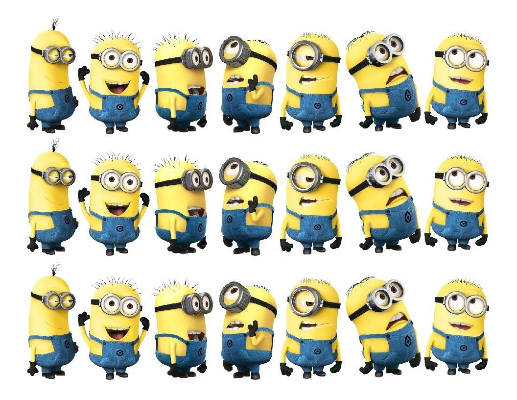 Despicable Me Minions Edible Cake Strips - Cake Wraps - Cakes For Cures