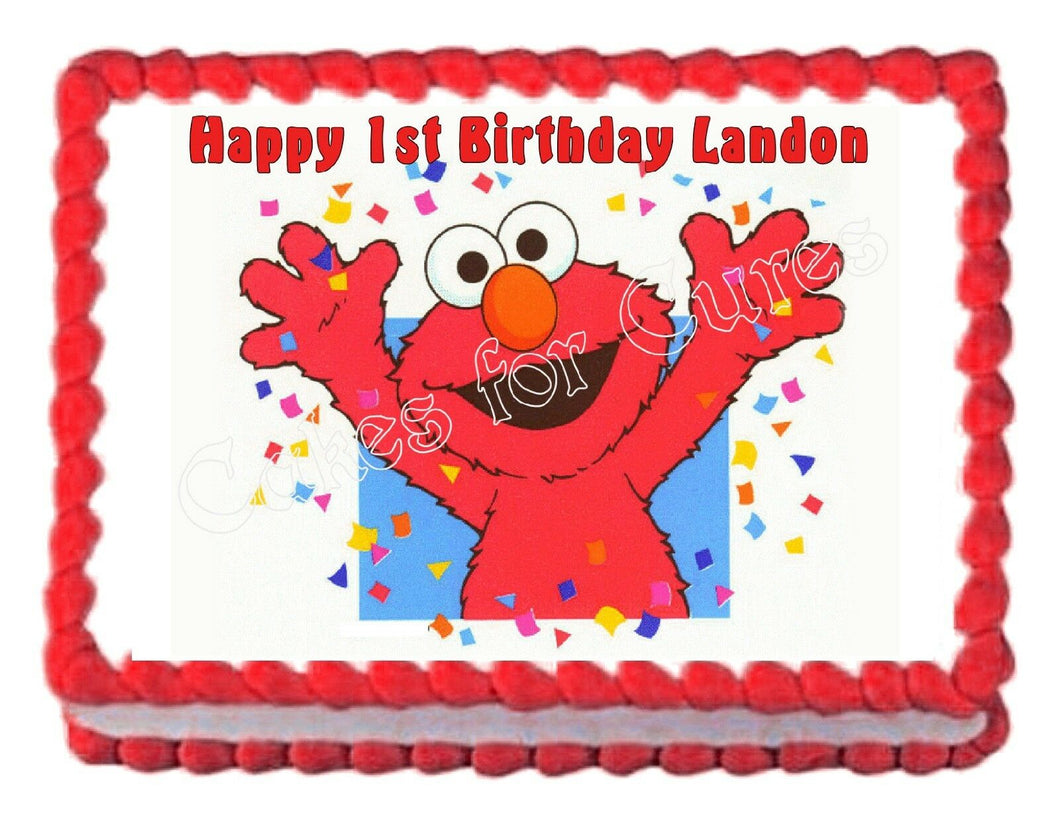 Elmo Sesame Street Edible Cake Image Cake Topper - Cakes For Cures