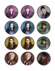 Disney Descendants 2 Edible Cupcake Images - Cupcake Toppers - Cakes For Cures