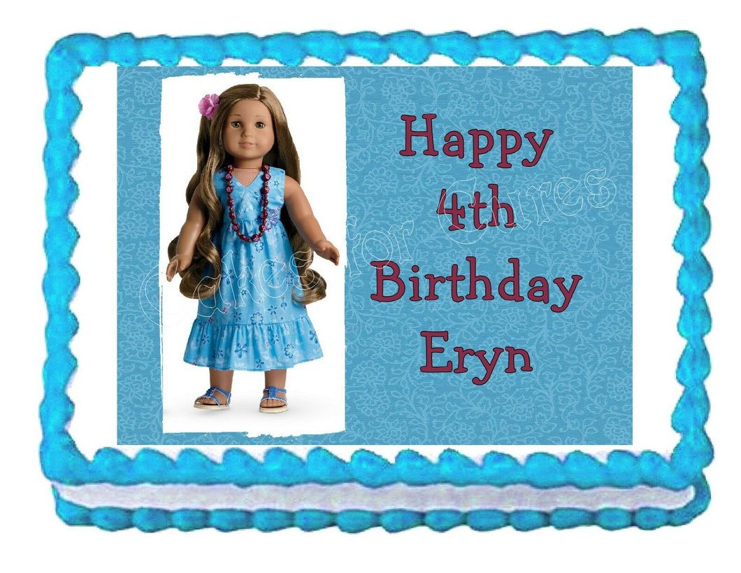 American Girl Kanani Edible Cake Image Cake Topper - Cakes For Cures