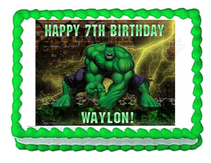 Incredible Hulk Avengers Edible Cake Image Cake Topper - Cakes For Cures