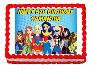 Superhero Super Hero Girls Edible Cake Image Cake Topper - Cakes For Cures
