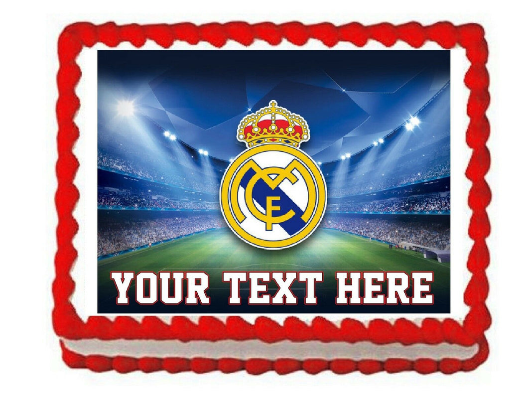 Soccer Real Madrid Edible Cake Image Cake Topper - Cakes For Cures