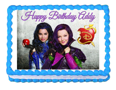 Disney Descendants Mal and Evie Edible Cake Image Cake Topper - Cakes For Cures