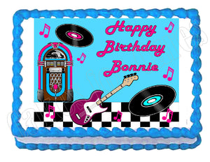 Rock and Roll 50's 60's Legends Edible Cake Image Cake Topper - Cakes For Cures