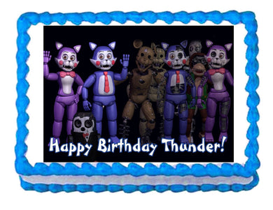 Five nights at Candy's FNaC  Edible Cake Image Cake Topper - Cakes For Cures