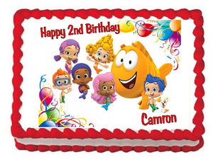 Bubble Guppies Edible Cake Image Cake Topper - Cakes For Cures