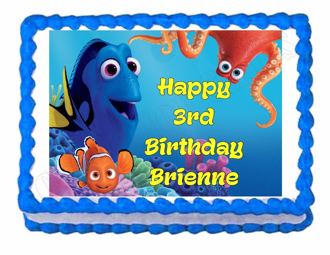 Finding Dory Party Edible Cake Image Cake Topper - Cakes For Cures