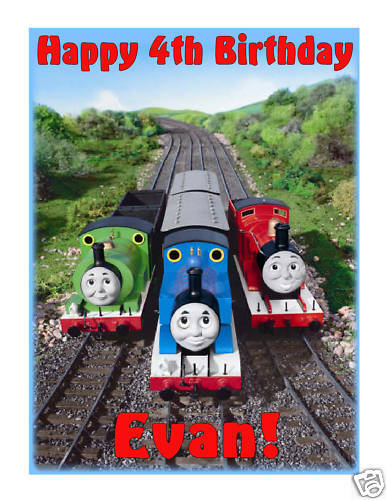 Thomas and Friends Edible Cake Image Cake Topper - Cakes For Cures