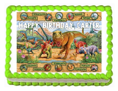 Dinosaurs Jurassic Edible Cake Image Cake Topper - Cakes For Cures