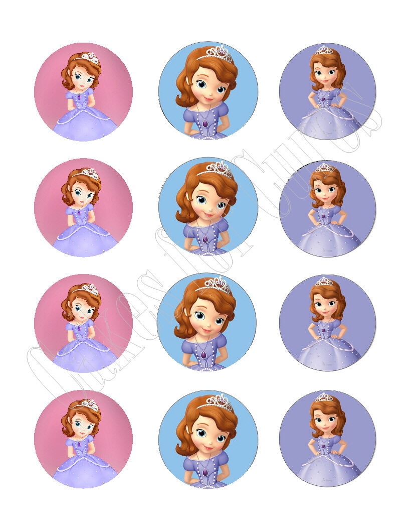 Sofia The First Princess Edible Cupcake Images Cupcake Toppers