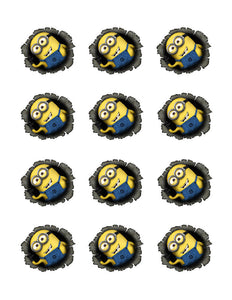 Despicable Me Minion Edible Cupcake Images Cupcake Toppers - Cakes For Cures
