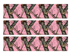 Pink Mossy Oak Camo Edible Cake Strips - Cake Wraps - Cakes For Cures