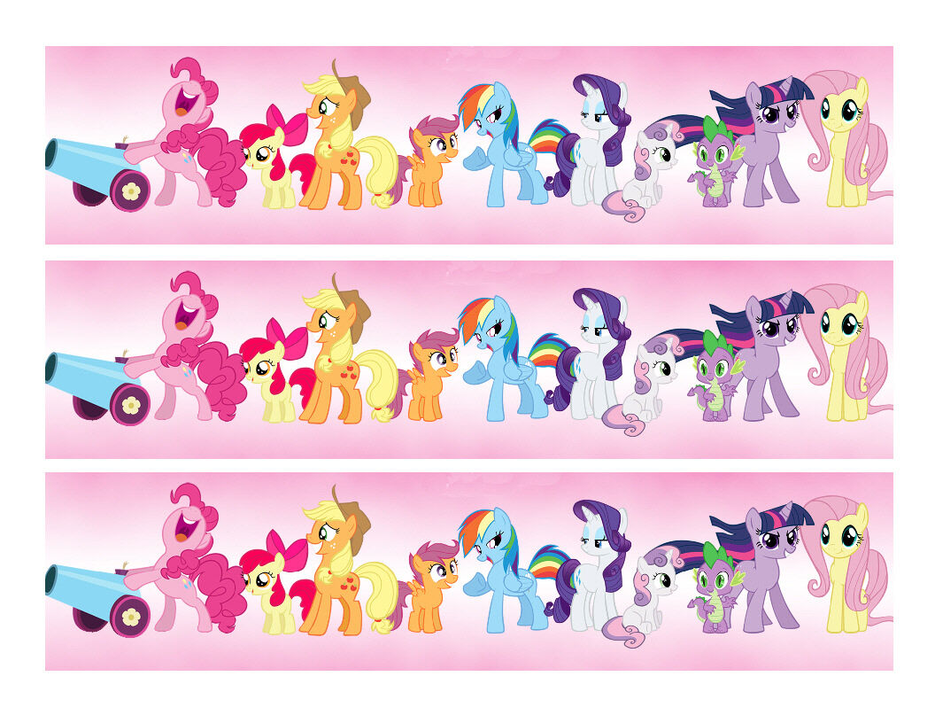 My Little Pony Edible Cake Strips - Cake Wraps - Cakes For Cures