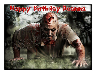 Zombies edible cake image party cake topper decoration cake frosting sheet - Cakes For Cures